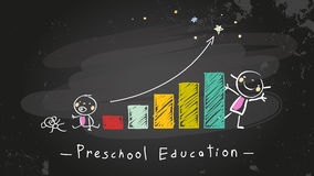 Preschool education blackboard