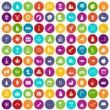 100 preschool education icons set color. 100 preschool education icons set in different colors circle isolated vector illustration vector illustration