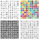 100 preschool education icons set vector variant. 100 preschool education icons set vector in 4 variant for any web design isolated on white Royalty Free Stock Photography