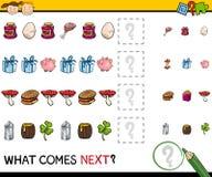 Preschool educational pattern task Royalty Free Stock Image