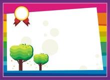 Preschool Elementary - kindergarten Diploma certificate background Stock Image