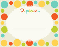 Preschool Elementary school. Kids Diploma certificate background Stock Photography