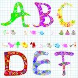 Preschool elements Stock Image