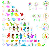 Preschool elements Royalty Free Stock Images
