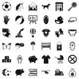 Preschool establishment icons set, simple style. Preschool establishment icons set. Simple set of 36 preschool establishment vector icons for web isolated on Stock Images