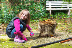 Preschool girl Royalty Free Stock Images