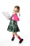 Preschool girl with book Royalty Free Stock Image