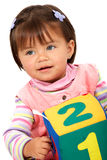 Preschool girl smiling Stock Images