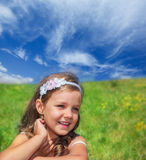 Preschool girl Stock Image