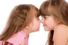 Preschool girls Stock Images