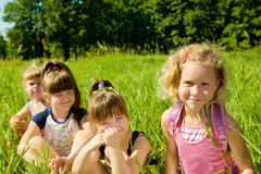 Preschool girls Royalty Free Stock Image