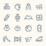 Preschool icons vector illustration