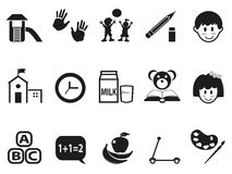 Preschool icons set Royalty Free Stock Photography