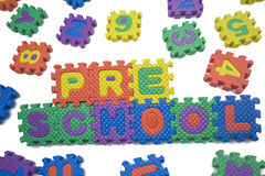 Preschool letters Stock Images