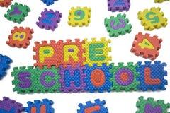 Preschool letters Stock Images