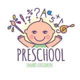 Preschool logo Royalty Free Stock Photos