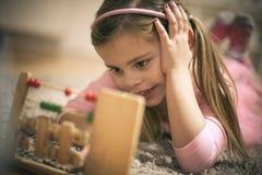 Preschool mała dziewczynka obraz royalty free