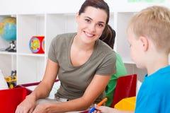 preschool nauczyciel obrazy royalty free