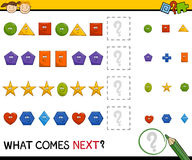 Preschool pattern game with shapes Stock Images