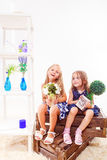 Preschool with plants Stock Photo