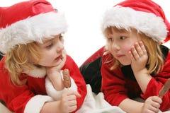Preschool santa helpers Stock Photo