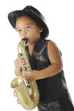 Preschool Sax Rocker Royalty Free Stock Photo