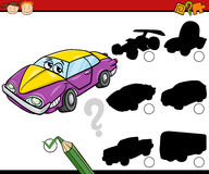 Preschool shadows task cartoon Stock Photo