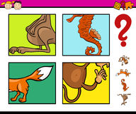Preschool task with animals Royalty Free Stock Photography