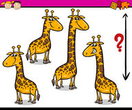 Preschool task cartoon illustration Royalty Free Stock Images