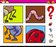 Preschool task with insects Royalty Free Stock Photos