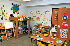 Preschool toy/fun area. Image of a toy/fun area in a preschool Royalty Free Stock Images