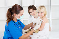 Preschool vaccination Royalty Free Stock Photos