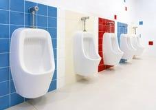 Preschool Washroom. Empty and clean preschool kindergarten restroom Royalty Free Stock Photography