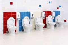 Preschool Washroom. Empty and clean preschool kindergarten restroom Stock Image