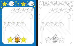 Preschool worksheet Obrazy Royalty Free