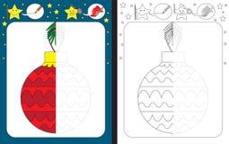 Preschool worksheet Zdjęcie Royalty Free