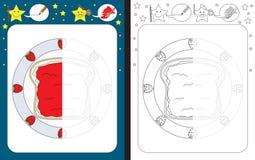 Preschool worksheet Fotografia Royalty Free