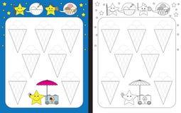 Free Preschool Worksheet Stock Photos - 87446903