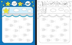 Preschool worksheet Royalty Free Stock Photos