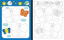 Preschool worksheet Stock Photography