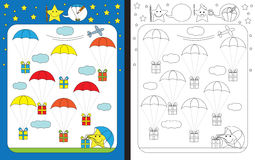 Preschool worksheet Royalty Free Stock Images