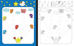 Preschool worksheet Stock Photos