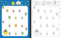 Preschool worksheet Stock Images