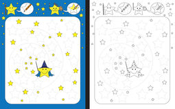 Preschool worksheet vector illustration