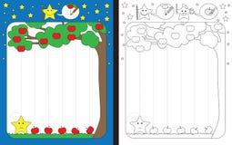 Preschool worksheet Royalty Free Stock Images