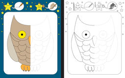 Preschool worksheet Stock Image