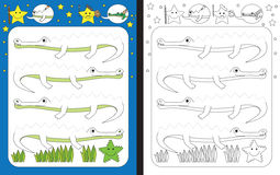 Preschool worksheet Stock Images