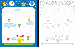 Preschool worksheet Stock Image