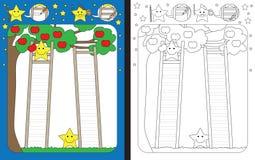 Preschool worksheet. For practicing fine motor skills - tracing dashed lines of ladders vector illustration