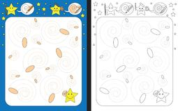 Preschool worksheet Royalty Free Stock Photo